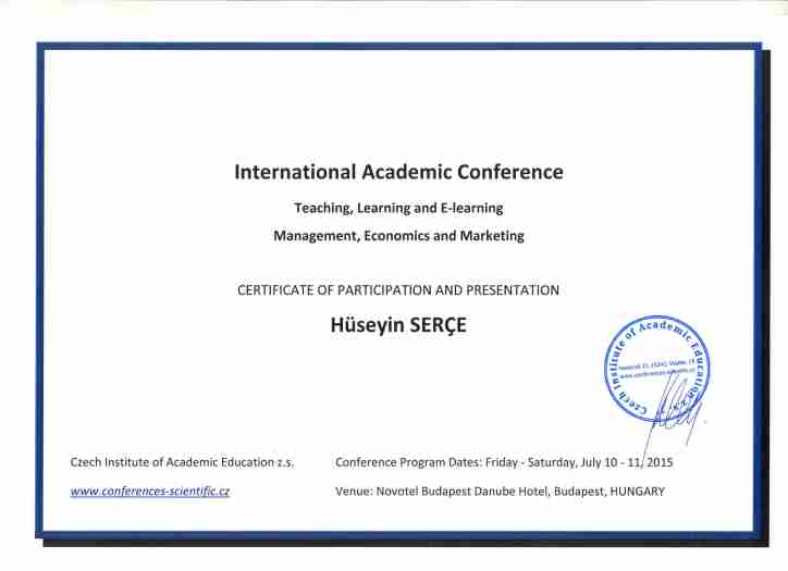 Certificate of participation and presentation yowomo2 0 for International conference certificate templates
